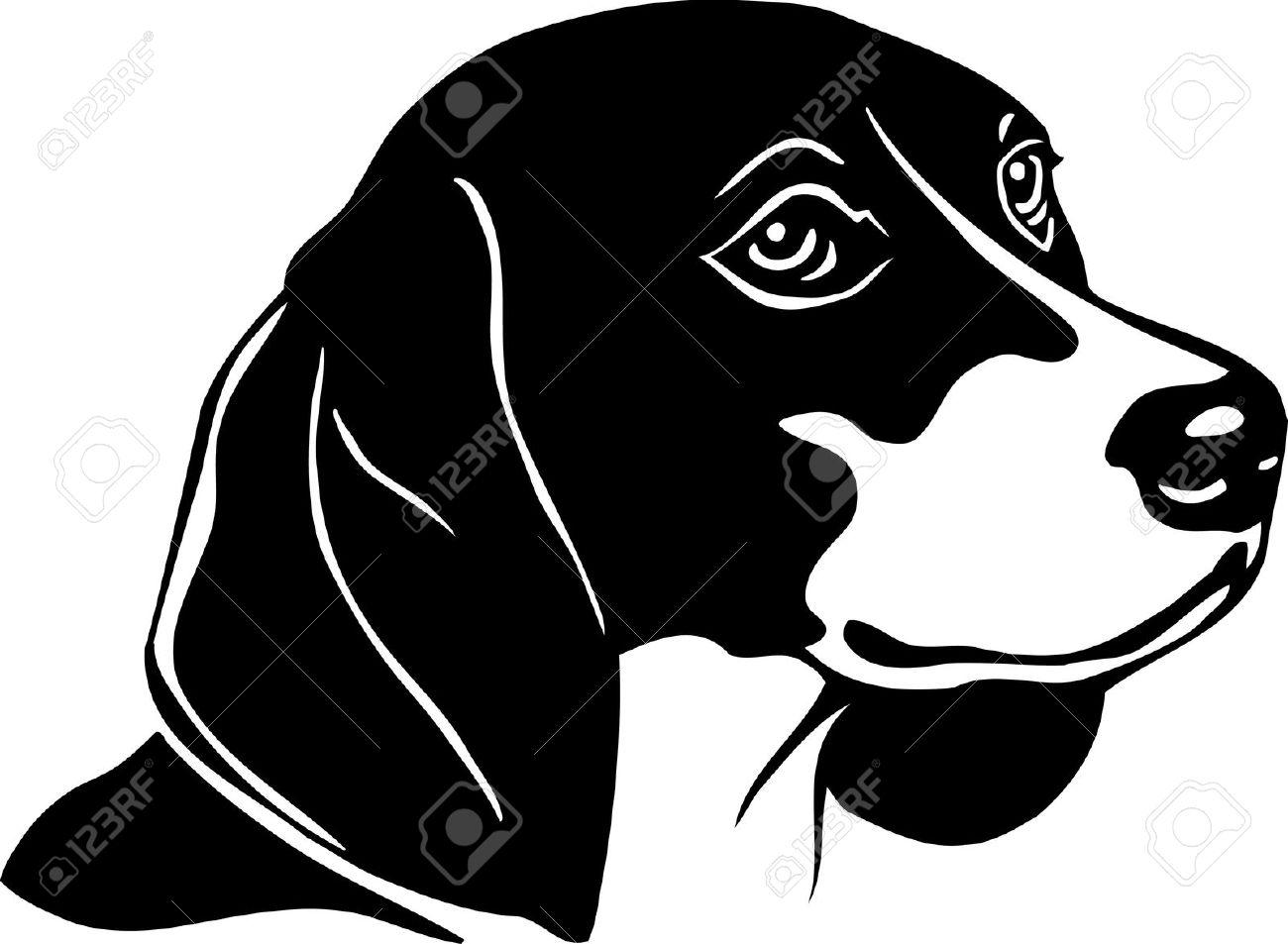 Beagles clipart black and white banner black and white Free Beagle Clipart Black And White, Download Free Clip Art, Free ... banner black and white
