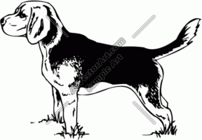 Beagles clipart black and white vector free library Beagle Cliparts - Cliparts Zone vector free library