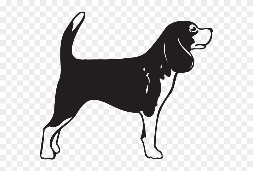 Beagles clipart black and white picture library download Svg Transparent Beagle Clipart Playful Puppy - Black And White ... picture library download