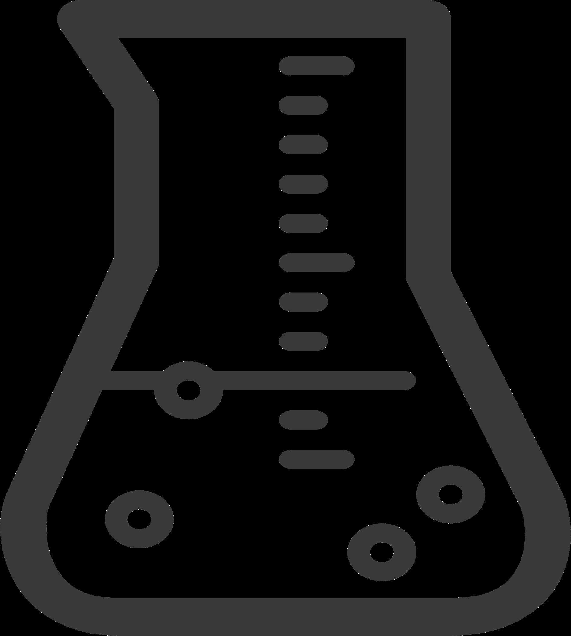 Chemistry vector image stock. Free beaker clipart
