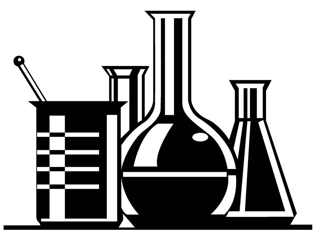 Beakers clipart black and white vector transparent library Black And White Science Clipart Beaker - Clipart1001 - Free Cliparts vector transparent library
