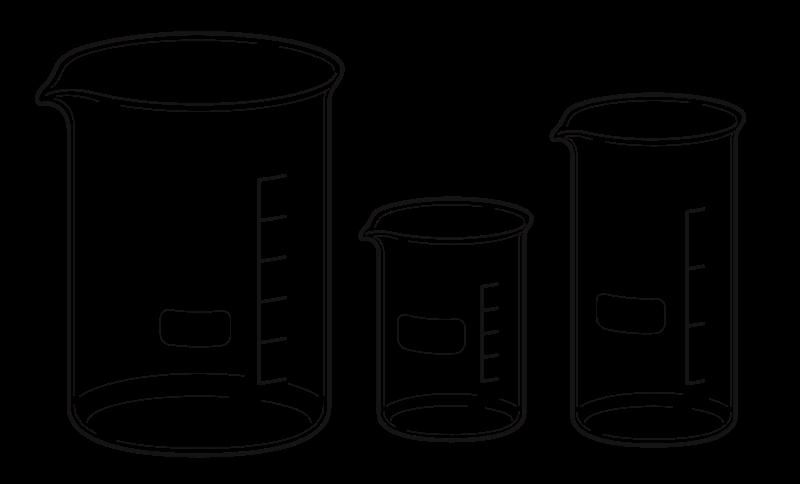 White clipart beaker jpg library Free Clipart: Beakers | Magirly jpg library