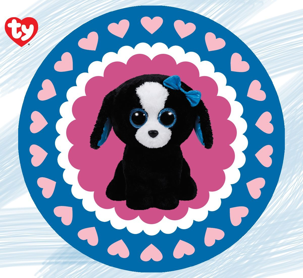 Beanie boos dog tracy clipart picture black and white stock Pin by Ty Inc. on Beanie Boos | Kids rugs, Beanie boos, Home Decor picture black and white stock