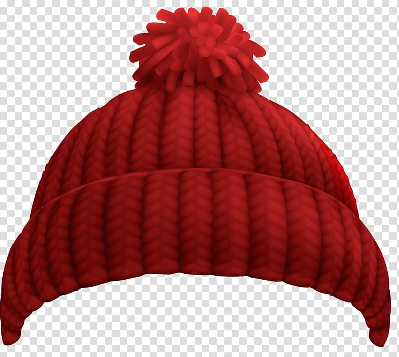 Beanie clipart red png royalty free download Red bobble hat illustration, Hat Cap Winter Beanie , knitted hat ... png royalty free download
