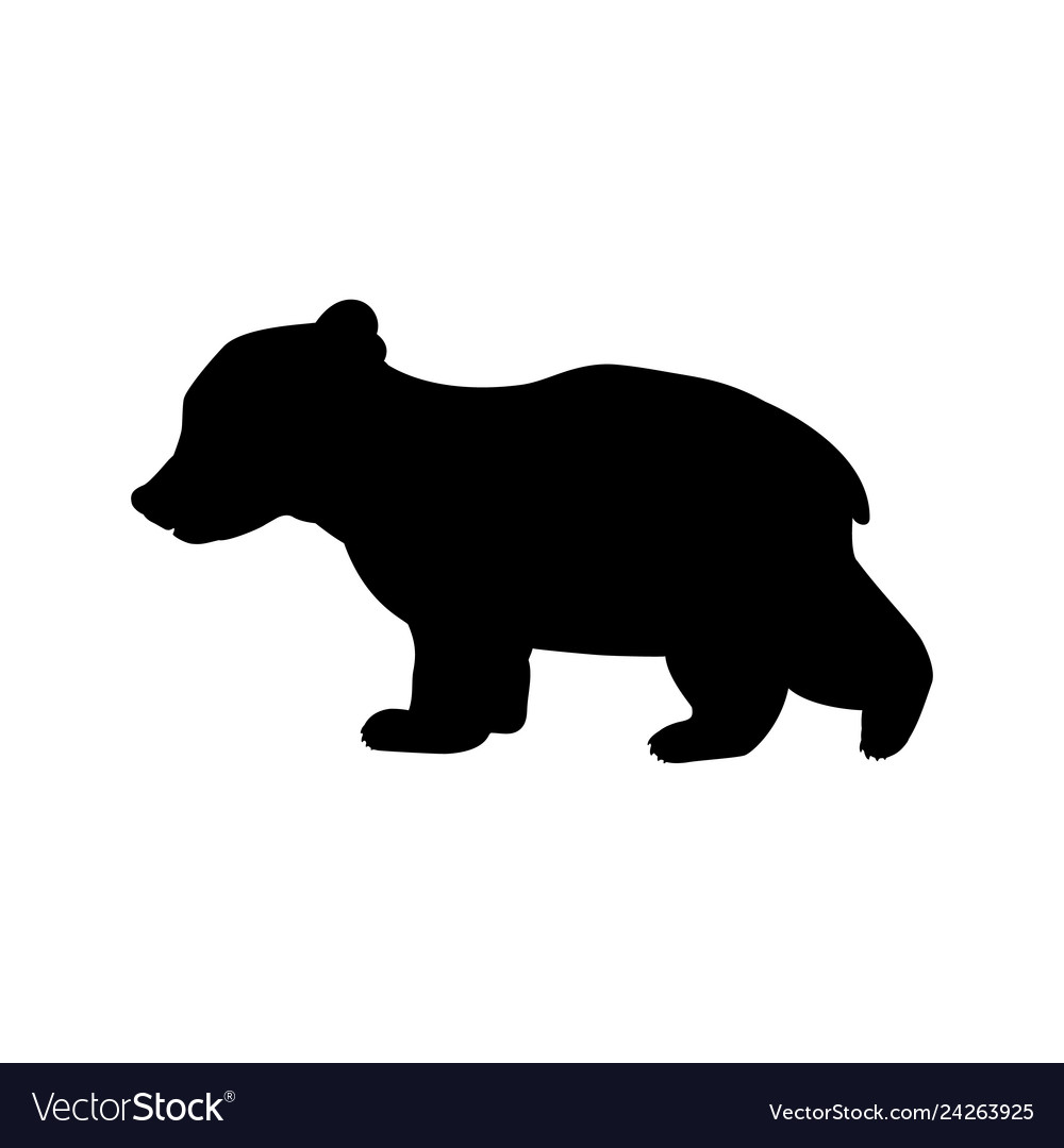 Bear and cub shadow clipart png black and white stock Bear cub wild black silhouette animal png black and white stock