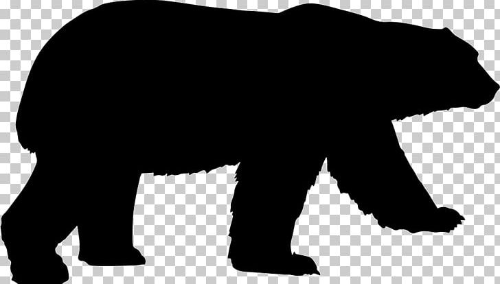 Bear and cub shadow clipart banner free Grizzly Bear Silhouette American Black Bear PNG, Clipart, American ... banner free