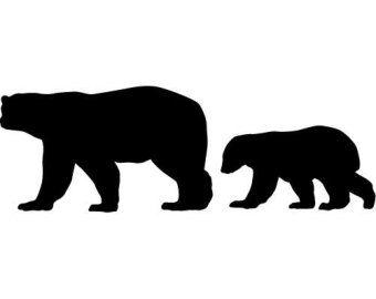 Bearcub clipart clipart black and white stock Bear Cub Clip Art | Cornhole board | Baby bear tattoo, Cubs tattoo ... clipart black and white stock