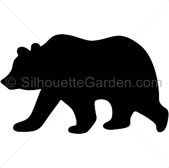 Chic bear outdoor clipart black and white jpg Pin by Muse Printables on Silhouette Clip Art at SilhouetteGarden ... jpg