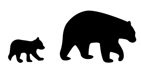 Bear and cub shadow clipart graphic library stock Bear Cub Silhouette photos, royalty-free images, graphics, vectors ... graphic library stock