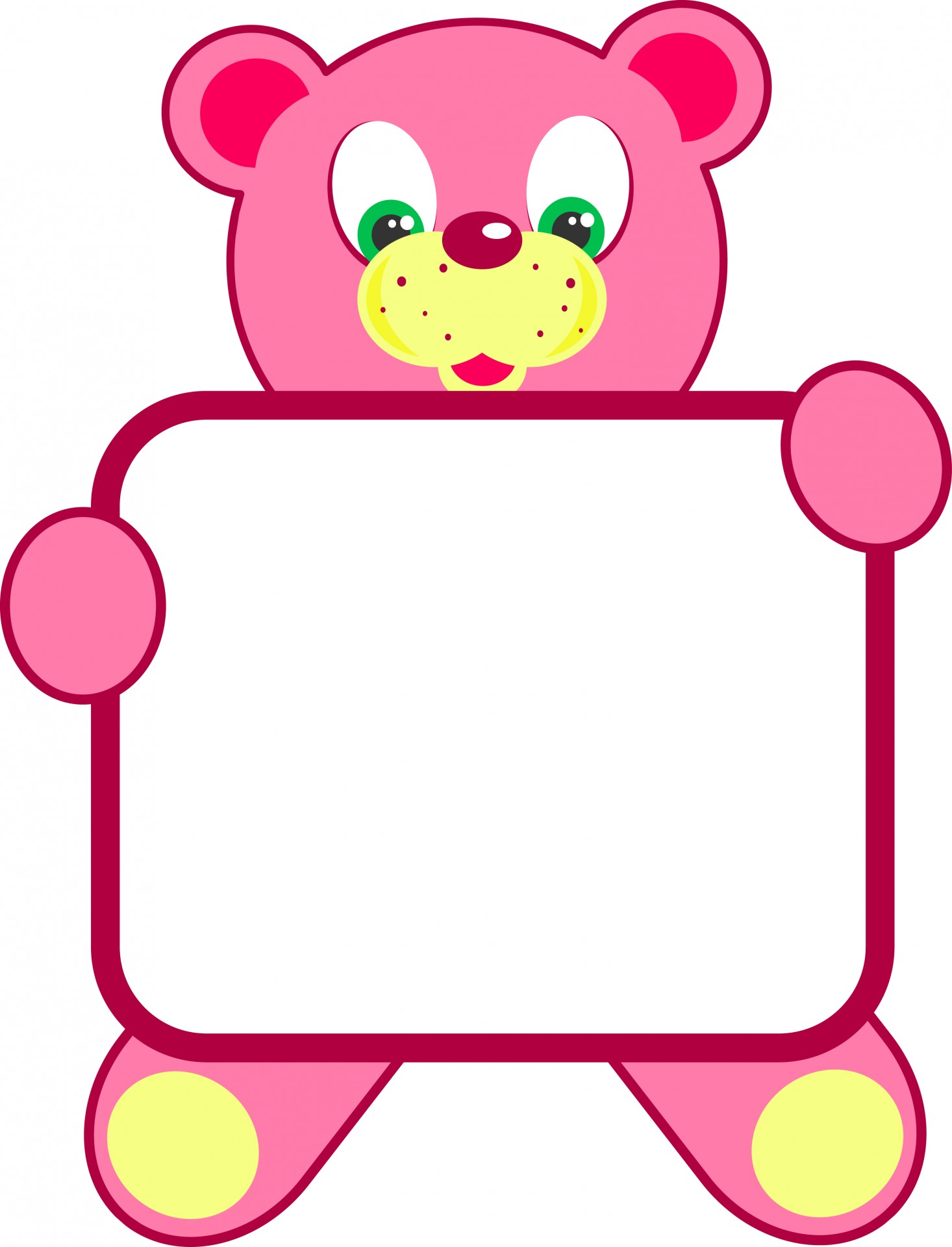 Bear and sign clipart image download Clipart,clip art,illustration,graphic,cartoon - free photo from ... image download