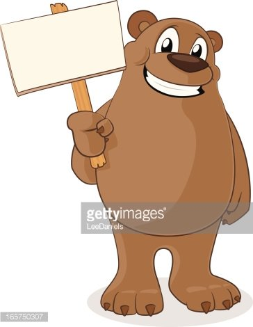 Bear and sign clipart jpg royalty free download Bear Holding A Blank Sign premium clipart - ClipartLogo.com jpg royalty free download