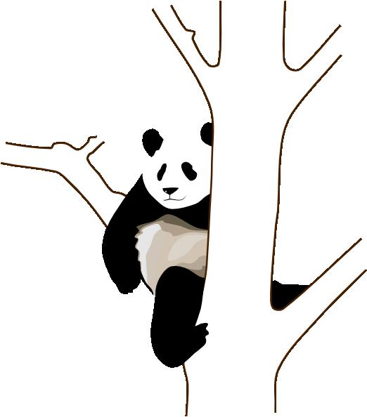 Climb tree clipart clip art library download Panda On A Tree Clip Art at Clker.com - vector clip art online ... clip art library download