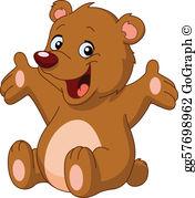 Bear art clipart vector library download Bear Clip Art - Royalty Free - GoGraph vector library download