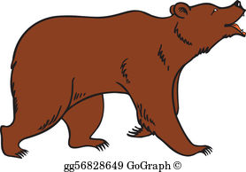 Bear art clipart freeuse download Brown Bear Clip Art - Royalty Free - GoGraph freeuse download