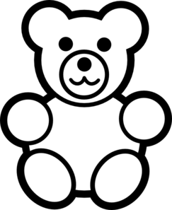 Bear black and white clipart png black and white download Circle Teddy Bear Black And White Clip Art at Clker.com - vector ... png black and white download