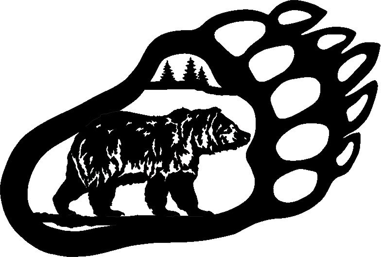 Bear black and white clipart bear paw clipart transparent stock Bear Paw Print Stencil | Bear paw art | Bears | Bear stencil, Bear ... clipart transparent stock