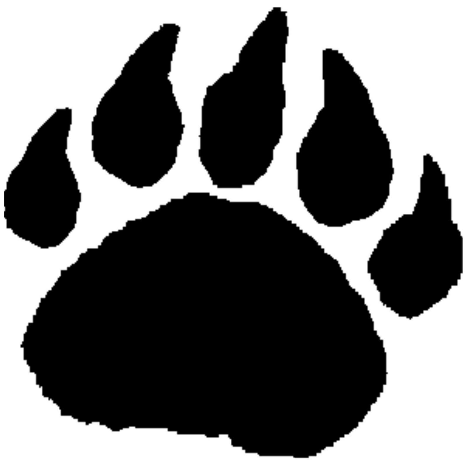 Bear footprint silhouette clipart banner library download Free Bear Paw Print, Download Free Clip Art, Free Clip Art on ... banner library download