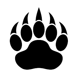 Bear black and white clipart bear paw vector freeuse library Bear Paw Print Silhouette   For the Home   Bear paw print, Bear paw ... vector freeuse library