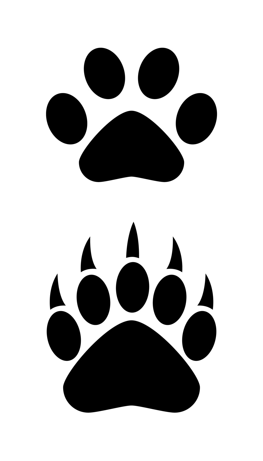 Bear black and white clipart bear paw png free stock Bear paw logo clipart - WikiClipArt png free stock