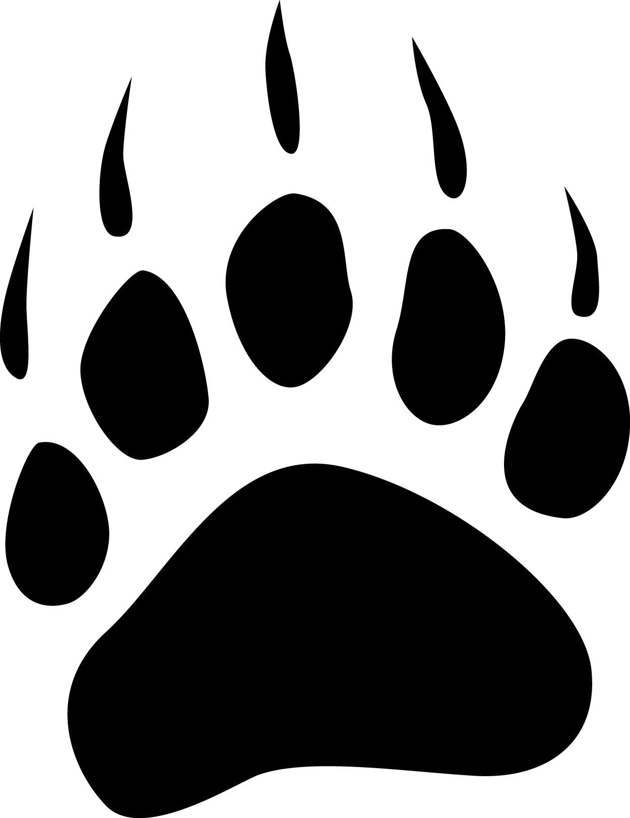 Furniture leg claws black and white clipart vector transparent download Bearcat Paw Clip Art | bear paw tracks free cliparts that you can ... vector transparent download