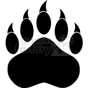 Bear black and white clipart bear paw clip royalty free stock royalty free rf clipart illustration black bear paw with claws vector  illustration isolated on white . Royalty-free clipart # 398973 clip royalty free stock
