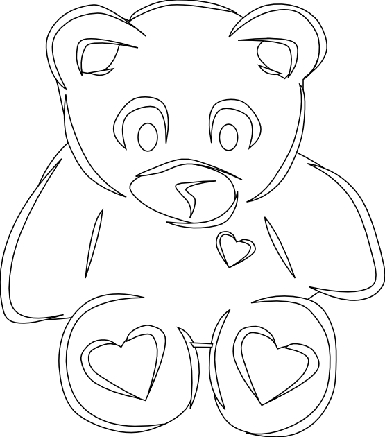 Clipart teddy bear with heart svg free stock clipartist.net » Clip Art » clip art bear heart 2 black white line ... svg free stock