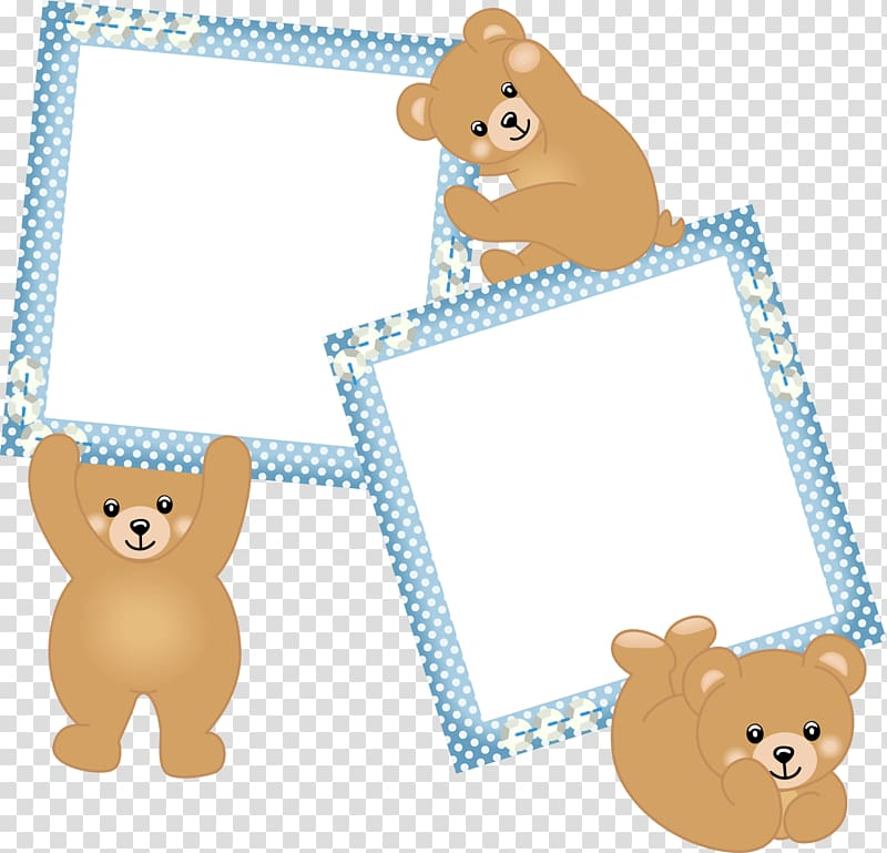 Bear borders clipart banner black and white download Three bear and two frames, frame Infant Boy, Blue bear frame ... banner black and white download