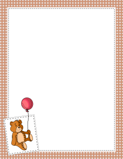 Bear borders clipart banner freeuse Teddy Bear Border | Clip Art - Boarders & Frames | Page borders ... banner freeuse