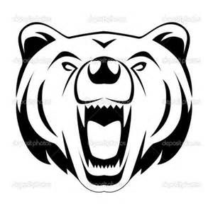 Bear face clipart black and white svg transparent library Fierce Bear Face Grapgic - - Yahoo Image Search Results | CFKI ... svg transparent library