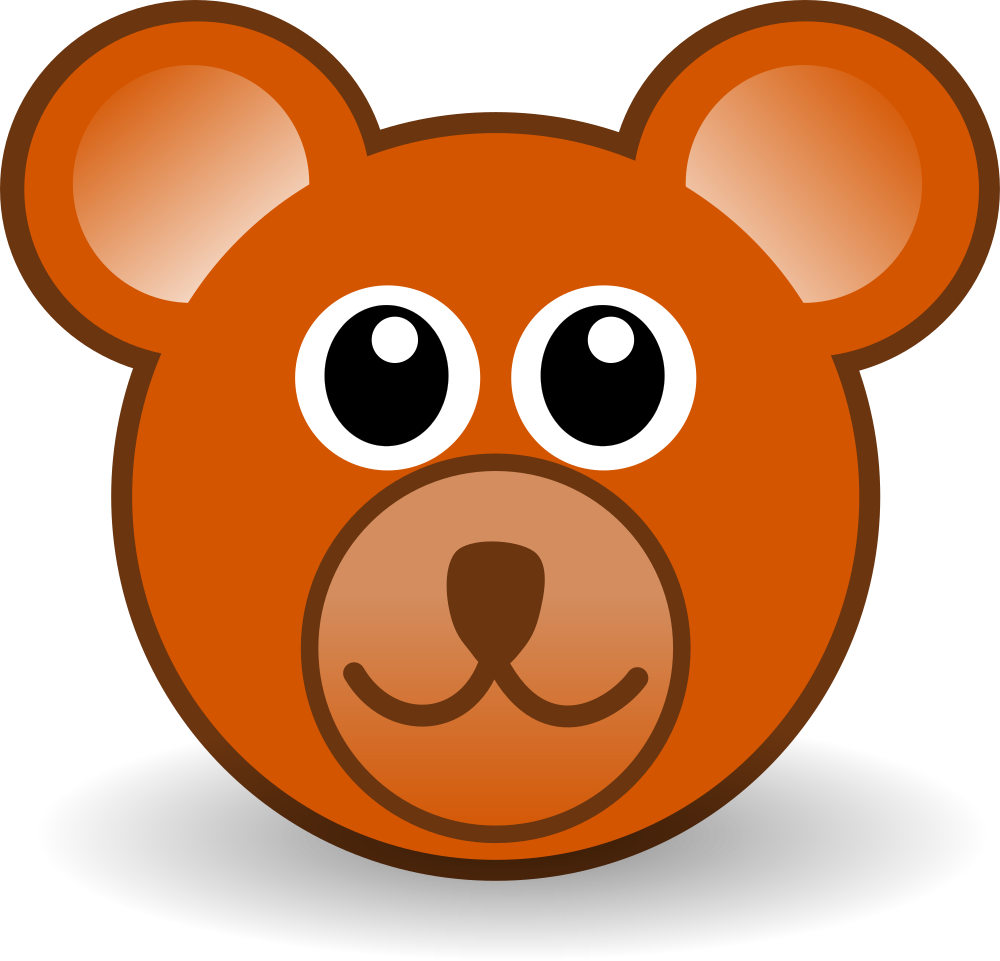 Bear clipart face graphic free download OnlineLabels Clip Art - Funny Teddy Bear Face Brown graphic free download