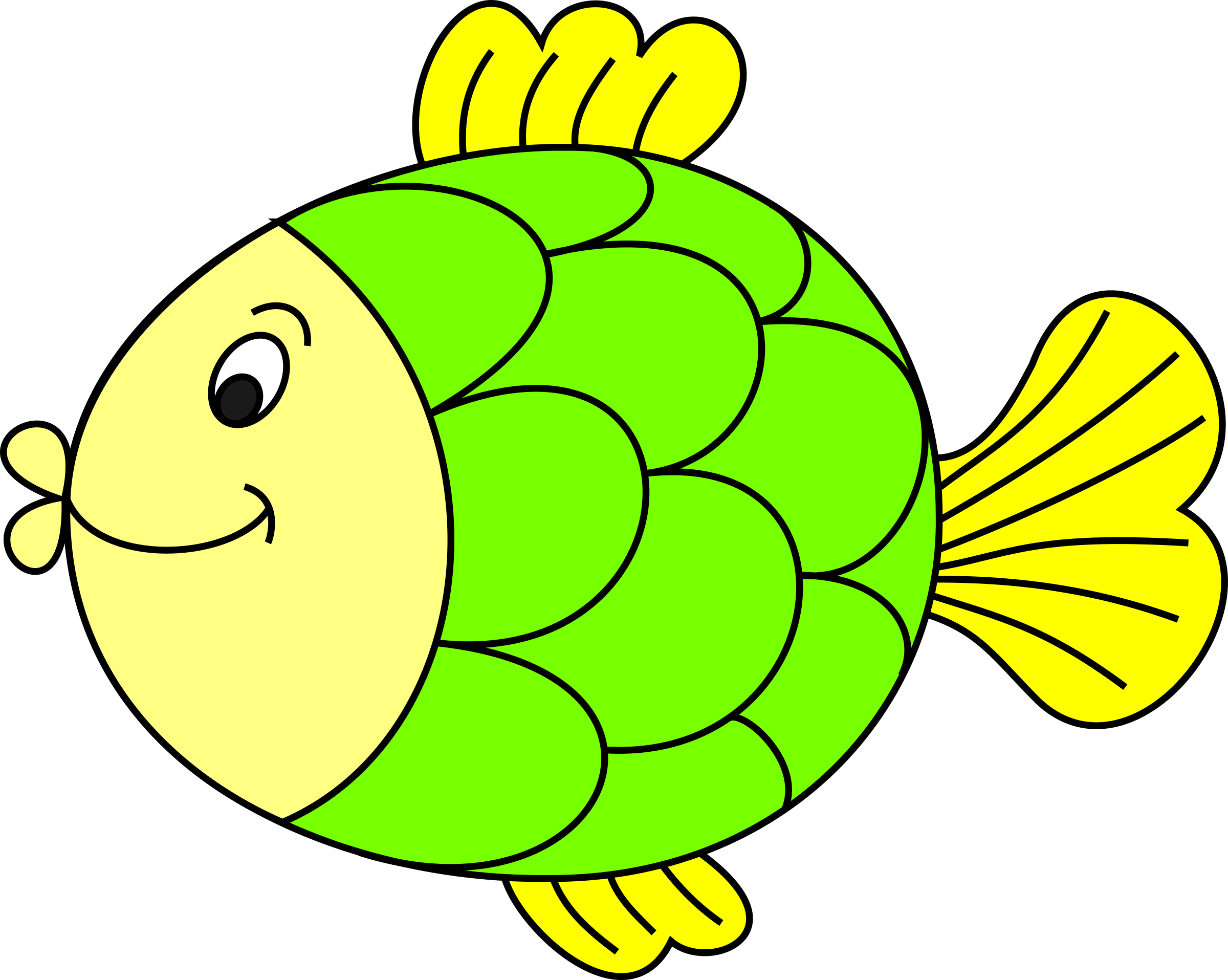 Clipart for fish graphic library stock Clipart - Fish-coloured graphic library stock