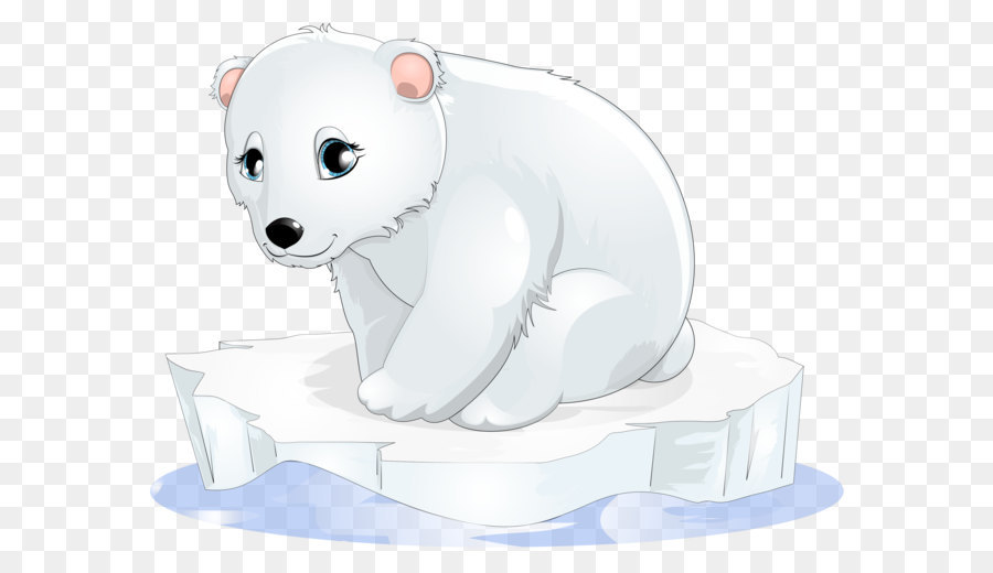 Talking polar bear clipart clipart black and white stock Polar Bear Cartoon png download - 2999*2329 - Free Transparent Polar ... clipart black and white stock