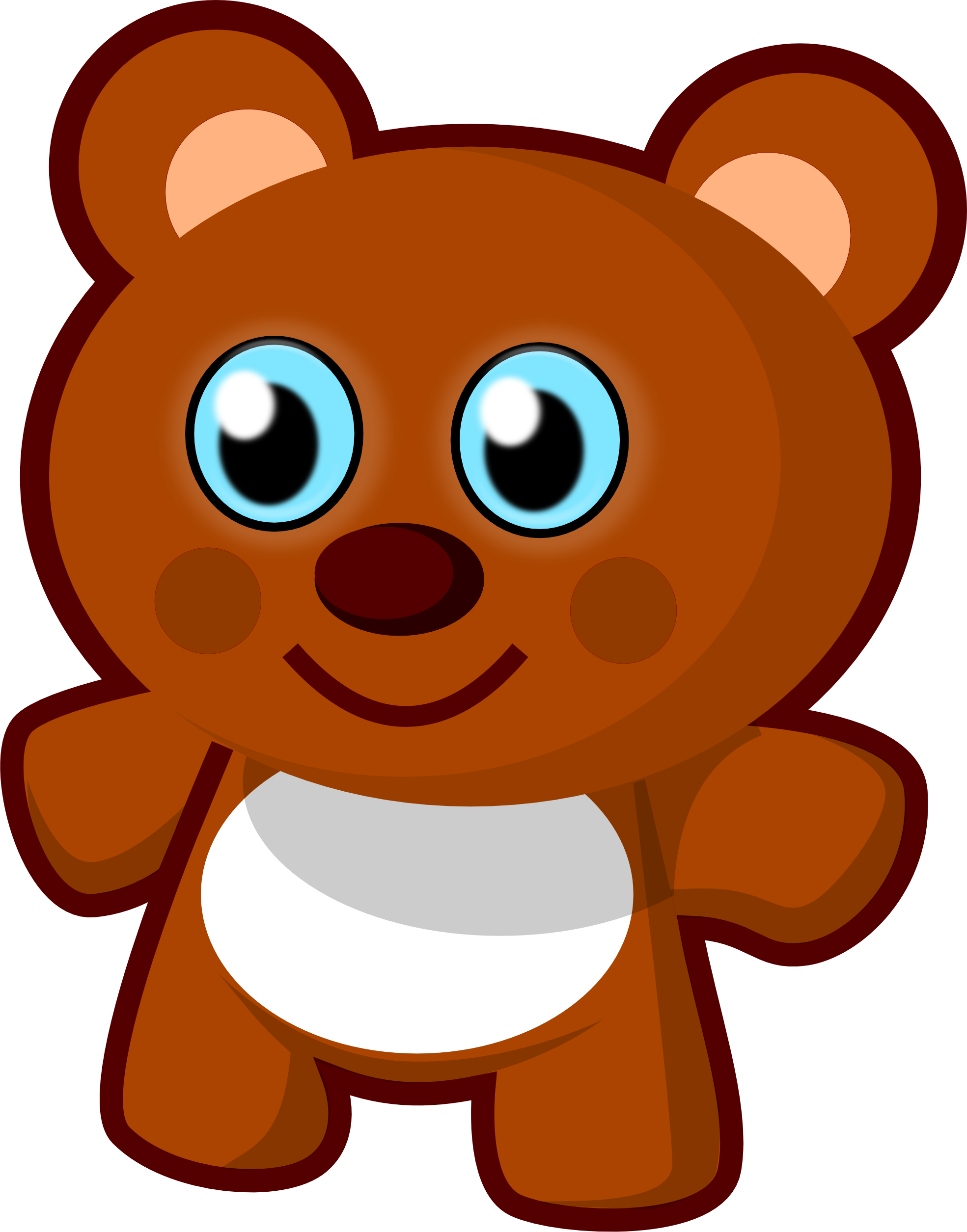 Bear doll clipart graphic transparent library Free Clip art vector design of Little Bear Toy SVG has been ... graphic transparent library