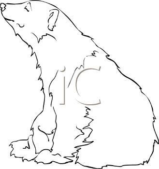 Bear down clipart clip art royalty free library picture of a white polar bear sitting down closing it\'s eyes in a ... clip art royalty free library