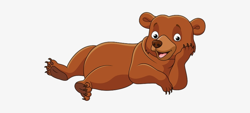 Bear down clipart transparent stock Clip Art Library Baby Bears Animal Pictures Laying - Cartoon Bear ... transparent stock