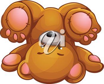 Bear down clipart svg transparent library Royalty Free Clipart Image of a Teddy Bear Upside Down #772624 ... svg transparent library