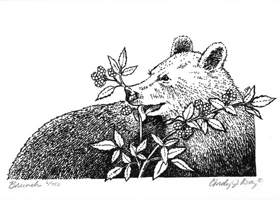 Bear eating black berry clipart graphic royalty free stock Eating Pen Cliparts - Cliparts Zone graphic royalty free stock