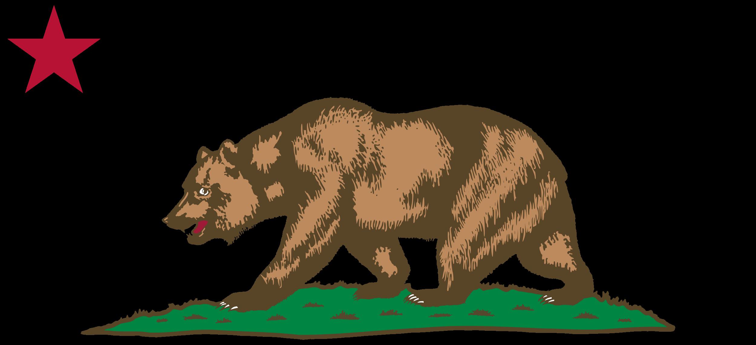 Bear eating fish clipart vector freeuse download clipart flag of california star bear plot_bclipart - BClipart vector freeuse download