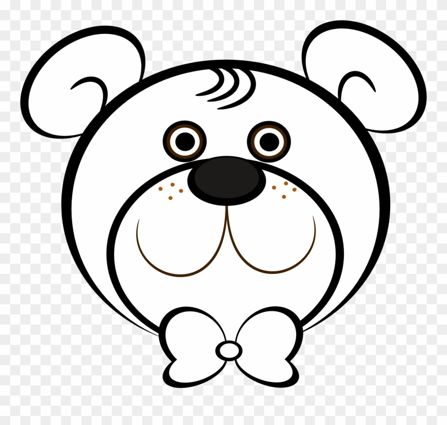 Bear face clipart black and white clip library library Bear Black And White White Bear Clipart - Teddy Bear Face Coloring ... clip library library