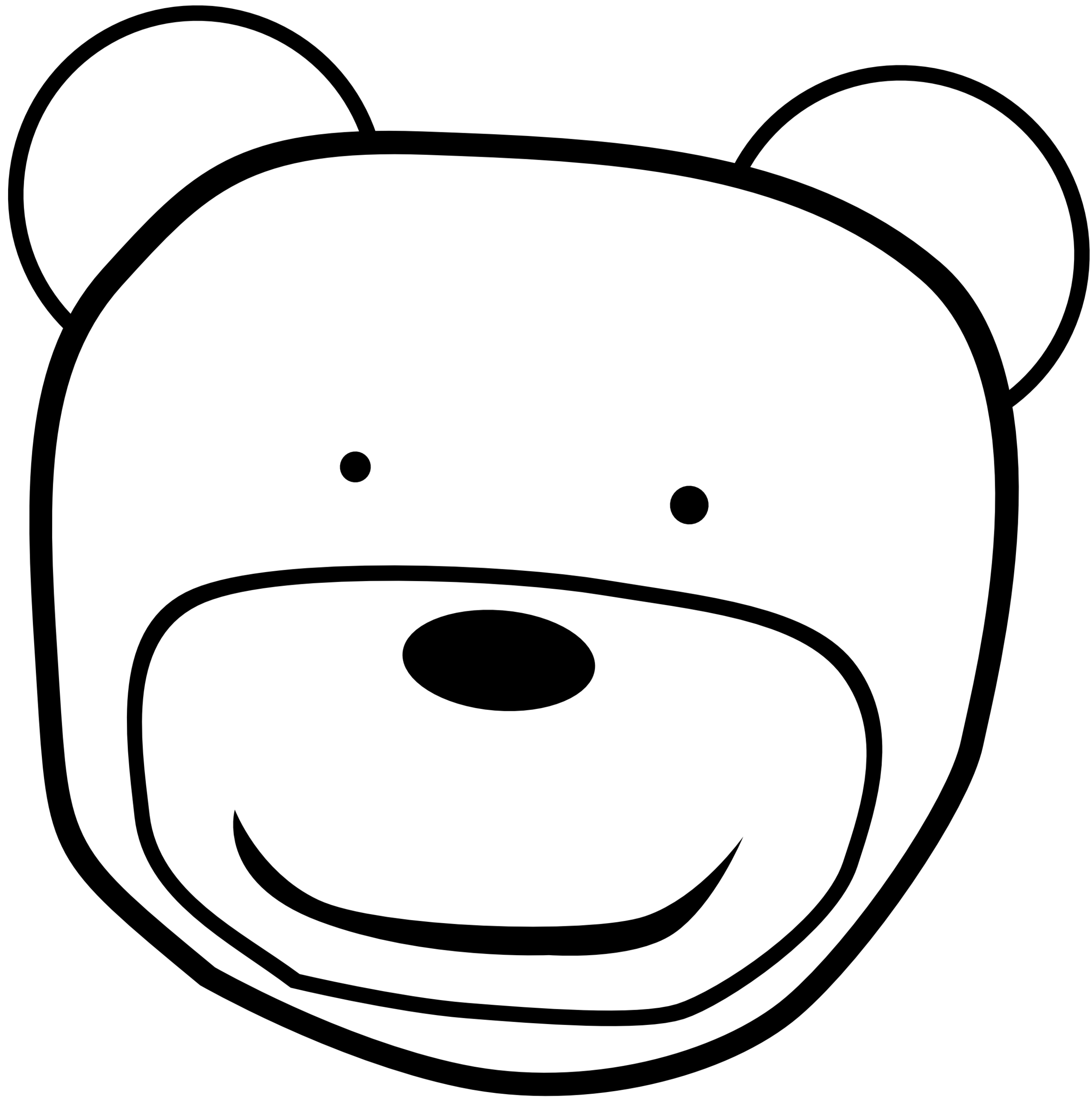 Bear face clipart black and white graphic freeuse Black And White Bear Clipart | Free download best Black And White ... graphic freeuse