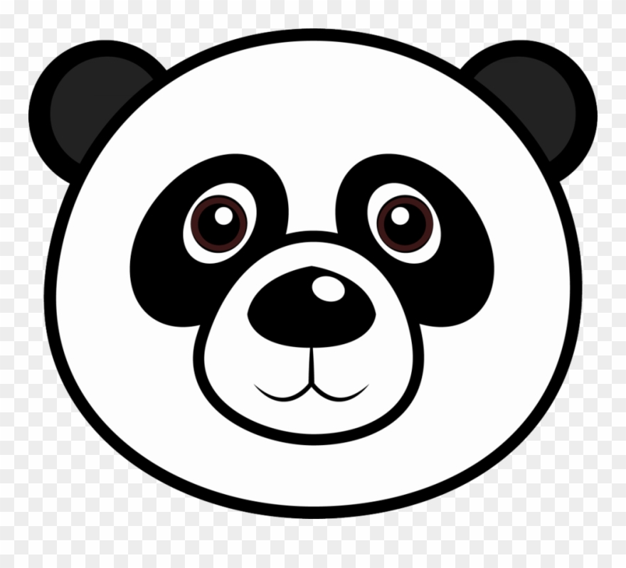 Bear face clipart black and white vector free download Panda Bear Face Coloring Page Clipart (#1461951) - PinClipart vector free download