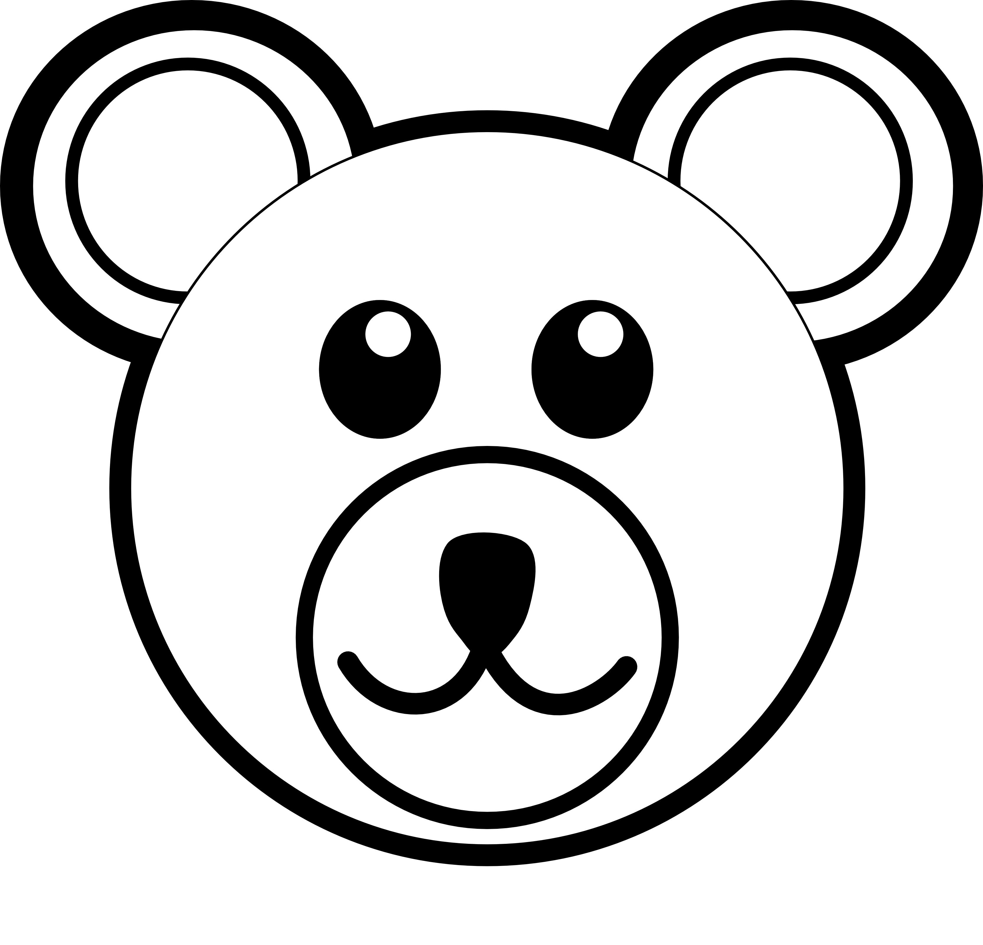 Bear face clipart free vector freeuse Polar Bear Clipart Black And White | Clipart Panda - Free Clipart ... vector freeuse