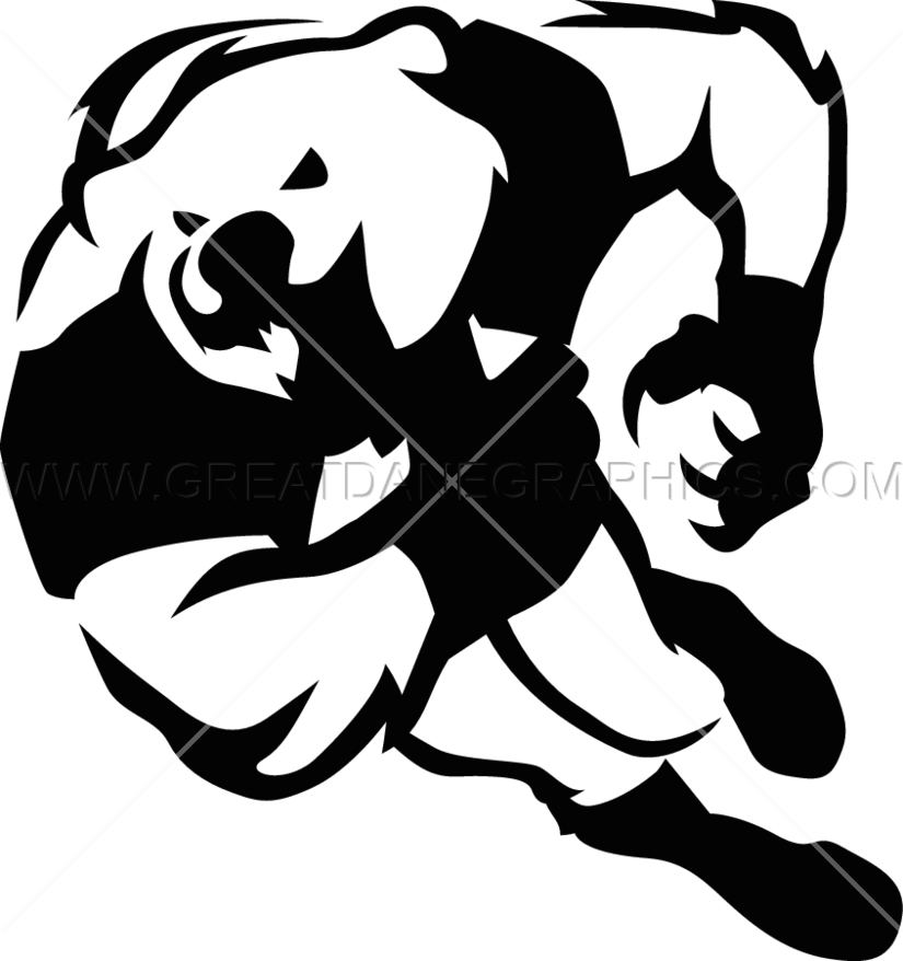 Football bear clipart picture transparent stock Football Bear | Production Ready Artwork for T-Shirt Printing picture transparent stock