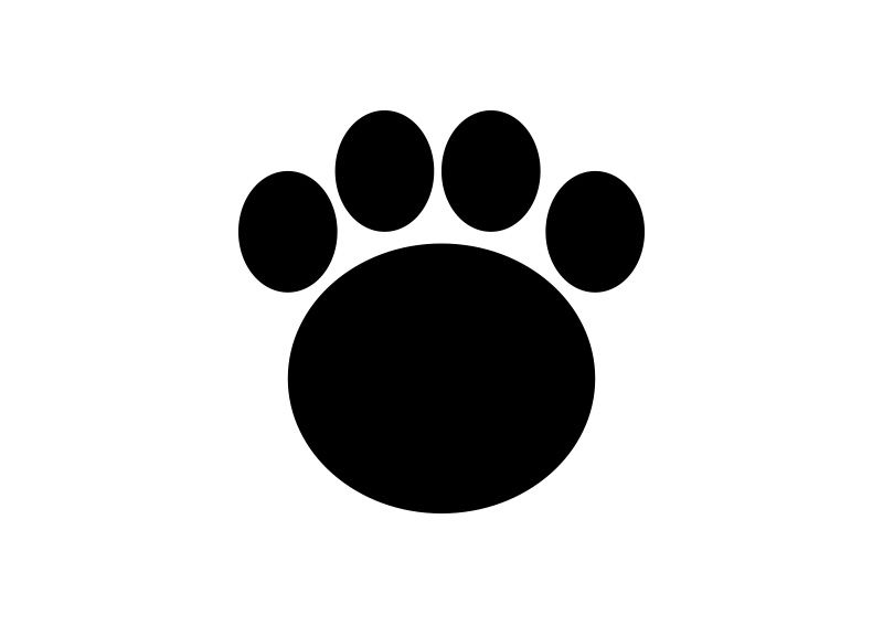 Bear footprint silhouette clipart svg transparent stock Bear Footprint Vector | simple vector icons | Bear footprint ... svg transparent stock