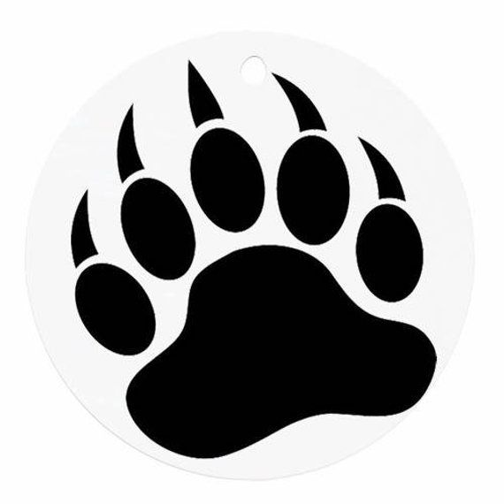 Bear footprint silhouette clipart clipart free Grizzly Bear decal | Products | Bear paw print, Bear silhouette ... clipart free