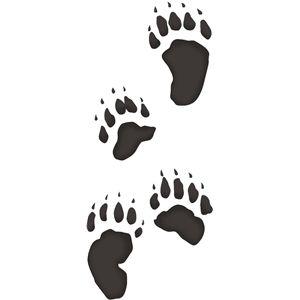 Bear footprint silhouette clipart image library stock Bear tracks | Art Ideas/Inspiration | Bear stencil, Bear footprint ... image library stock