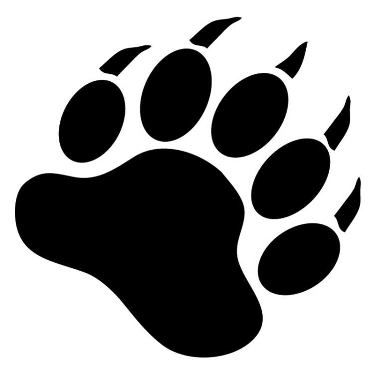Bear footprint silhouette clipart clip black and white Free Bear Claw Silhouette, Download Free Clip Art, Free Clip Art on ... clip black and white