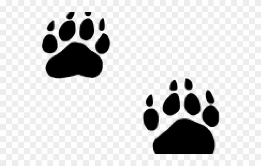 Bear footprint silhouette clipart clip art Grizzly Clipart Bobcat Footprint - Black Bear Paw Png Transparent ... clip art