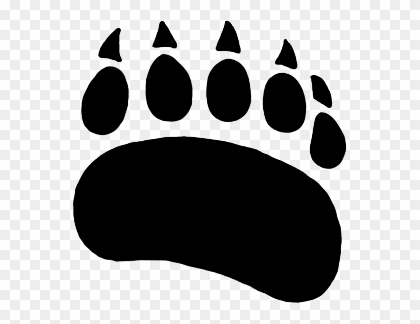 Bear footprint silhouette clipart vector library Grizzly Bear Clipart Paw Print - Polar Bear Paw Silhouette, HD Png ... vector library