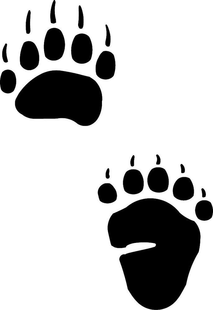 Bear footprint silhouette clipart svg free library Bear Tracks and Grass Tattoo | Native American Bear Paw Print Black ... svg free library